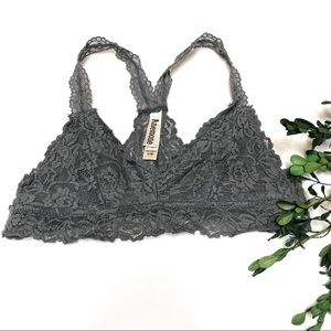 Gray Lace Bralette Size Small/Medium A-B Cup